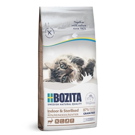 BOZITA Funktion Indoor&Sterilised сухой корм для Домашних и стерилизованных кошек 400гр