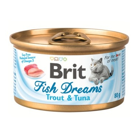 Brit Fish Dreams консервы для кошек форель и тунец 80г