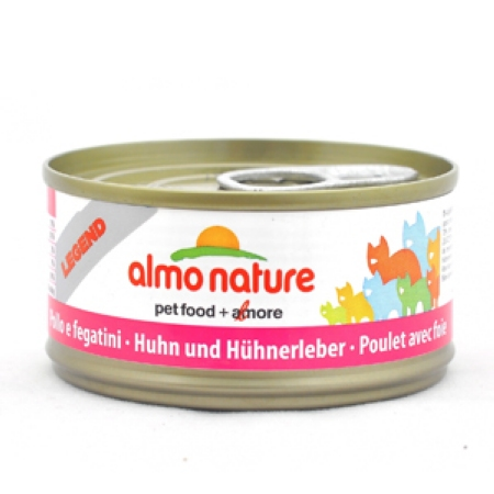 ALMO NATURE LEGEND консервы для кошек с курицей и печенью 70 гр