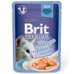 Brit Premium Пауч для кошек JELLY Salmon fillets Кусочки филе Лосося в желе 85гр
