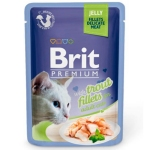 Brit Premium Пауч для кошек JELLY Trout fillets Кусочки филе Форели в желе 85гр