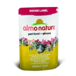 ALMO NATURE ROUGE LABEL ХОЛИСТИК консервы для кошек с куриным филе и сыром 55 гр